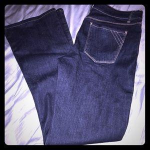 WHBM women's skinny flare dark nwot jeans